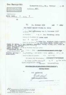Wyrok Sądu Rejonowego w Głubczycach z 19.02.1938 r.