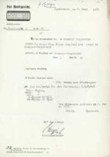 Wyrok Sądu Rejonowego w Głubczycach z 07.06.1933 r.
