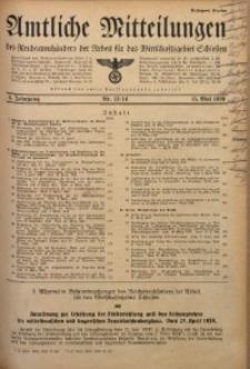 Amtliche Mitteilungen, 1939, Jg. 5, Nr. 13/14
