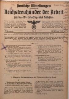Amtliche Mitteilungen, 1941, Jg. 7, Nr. 5