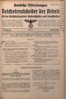 Amtliche Mitteilungen, 1941, Jg. 7, Nr. 11