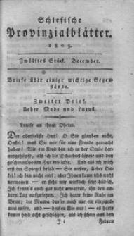 Schlesische Provinzialblätter, 1803, 38. Bd., 12. St.: December