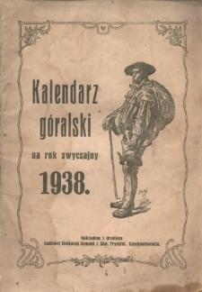 Kalendarz Góralski na Rok 1938