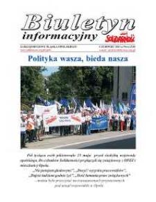 """Biuletyn Informacyjny """"Solidarność"""" 2011, nr 6 (325)."""