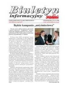 """Biuletyn Informacyjny """"Solidarność"""" 2011, nr 11 (330)."""
