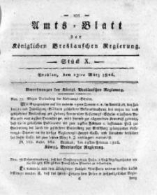 Amts-Blatt der Königlichen Breslauschen Regierung, 1816, Bd. 6, St. 10
