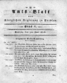 Amts-Blatt der Königlichen Regierung zu Breslau, 1816, Bd. 7, St. 5
