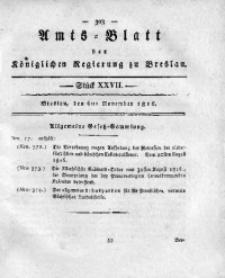 Amts-Blatt der Königlichen Regierung zu Breslau, 1816, Bd. 7, St. 27