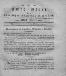 Amts-Blatt der Königlichen Regierung zu Breslau, 1820, Bd. 11, St. 23