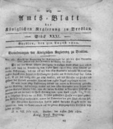 Amts-Blatt der Königlichen Regierung zu Breslau, 1820, Bd. 11, St. 31
