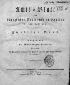 Amts-Blatt der Königlichen Regierung zu Breslau, 1821, Bd. 12, Chronologisches Verzeichniß
