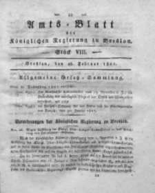 Amts-Blatt der Königlichen Regierung zu Breslau, 1821, Bd. 12, St. 8