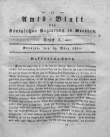 Amts-Blatt der Königlichen Regierung zu Breslau, 1821, Bd. 12, St. 10