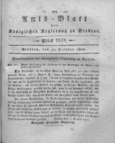 Amts-Blatt der Königlichen Regierung zu Breslau, 1821, Bd. 12, St. 44