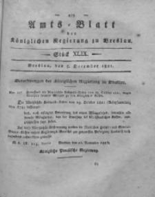 Amts-Blatt der Königlichen Regierung zu Breslau, 1821, Bd. 12, St. 49