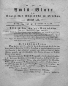 Amts-Blatt der Königlichen Regierung zu Breslau, 1821, Bd. 12, St. 52