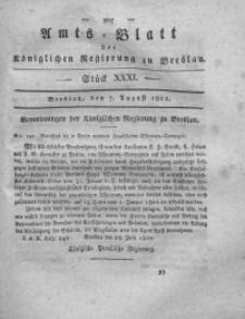 Amts-Blatt der Königlichen Regierung zu Breslau, 1822, Bd. 13, St. 31