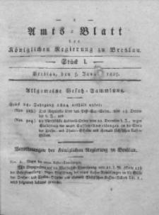Amts-Blatt der Königlichen Regierung zu Breslau, 1825, Bd. 16, St. 1
