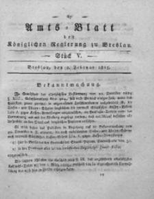 Amts-Blatt der Königlichen Regierung zu Breslau, 1825, Bd. 16, St. 5