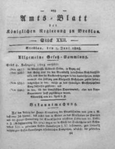 Amts-Blatt der Königlichen Regierung zu Breslau, 1825, Bd. 16, St. 22