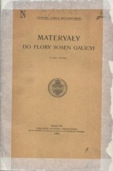 Materyały do flory sosen Galicyi