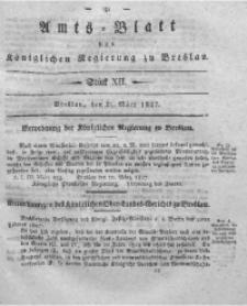 Amts-Blatt der Königlichen Regierung zu Breslau, 1827, Bd. 18, St. 12