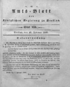 Amts-Blatt der Königlichen Regierung zu Breslau, 1829, Bd. 20, St. 8