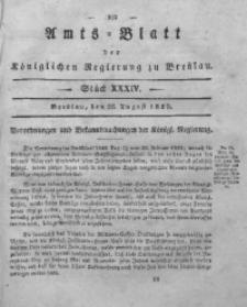 Amts-Blatt der Königlichen Regierung zu Breslau, 1829, Bd. 20, St. 34