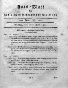 Amts-Blatt der Königlichen Breslauschen Regierung, 1812, Bd. 2, Nro. 23