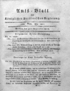 Amts-Blatt der Königlichen Breslauschen Regierung, 1812, Bd. 2, Nro. 39