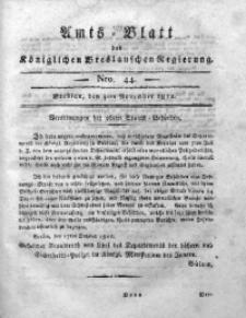 Amts-Blatt der Königlichen Breslauschen Regierung, 1812, Bd. 2, Nro. 44
