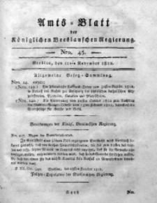 Amts-Blatt der Königlichen Breslauschen Regierung, 1812, Bd. 2, Nro. 45