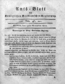 Amts-Blatt der Königlichen Breslauschen Regierung, 1812, Bd. 2, Nro. 47