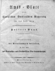 Amts-Blatt der Königlichen Breslauschen Regierung, 1813, Bd. 3, Chronologisches Verzeichniß