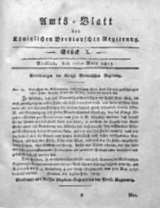 Amts-Blatt der Königlichen Breslauschen Regierung, 1813, Bd. 3, St. 10