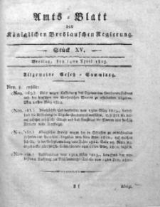 Amts-Blatt der Königlichen Breslauschen Regierung, 1813, Bd. 3, St. 15