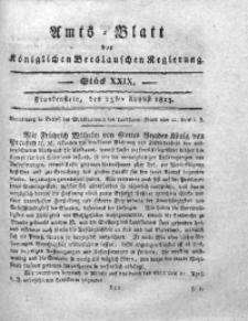 Amts-Blatt der Königlichen Breslauschen Regierung, 1813, Bd. 3, St. 29