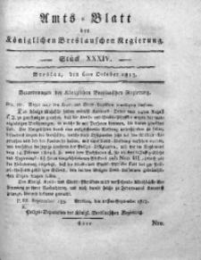 Amts-Blatt der Königlichen Breslauschen Regierung, 1813, Bd. 3, St. 34
