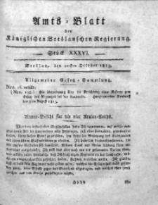 Amts-Blatt der Königlichen Breslauschen Regierung, 1813, Bd. 3, St. 36