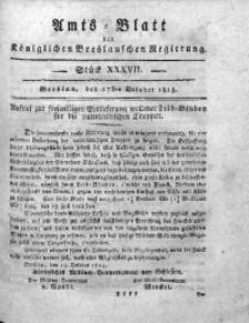 Amts-Blatt der Königlichen Breslauschen Regierung, 1813, Bd. 3, St. 37