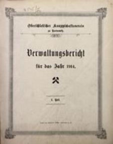 Verwaltungsbericht für das Jahr 1914. I. Teil