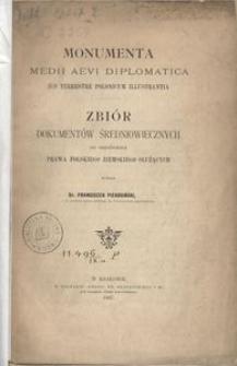 Monumenta medii aevi diplomatica ius terrestre polonicum illustrantia