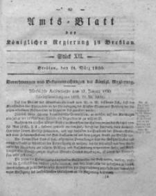Amts-Blatt der Königlichen Regierung zu Breslau, 1830, Bd. 21, St. 12