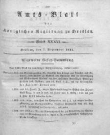 Amts-Blatt der Königlichen Regierung zu Breslau, 1831, Bd. 22, St. 36