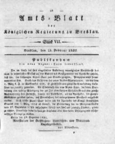 Amts-Blatt der Königlichen Regierung zu Breslau, 1832, Bd. 23, St. 7