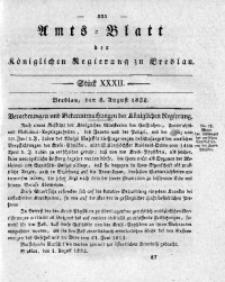 Amts-Blatt der Königlichen Regierung zu Breslau, 1832, Bd. 23, St. 32