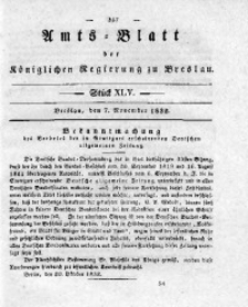 Amts-Blatt der Königlichen Regierung zu Breslau, 1832, Bd. 23, St. 45
