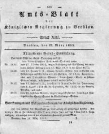 Amts-Blatt der Königlichen Regierung zu Breslau, 1833, Bd. 24, St. 13