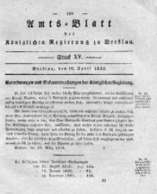 Amts-Blatt der Königlichen Regierung zu Breslau, 1833, Bd. 24, St. 15