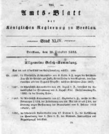 Amts-Blatt der Königlichen Regierung zu Breslau, 1833, Bd. 24, St. 44